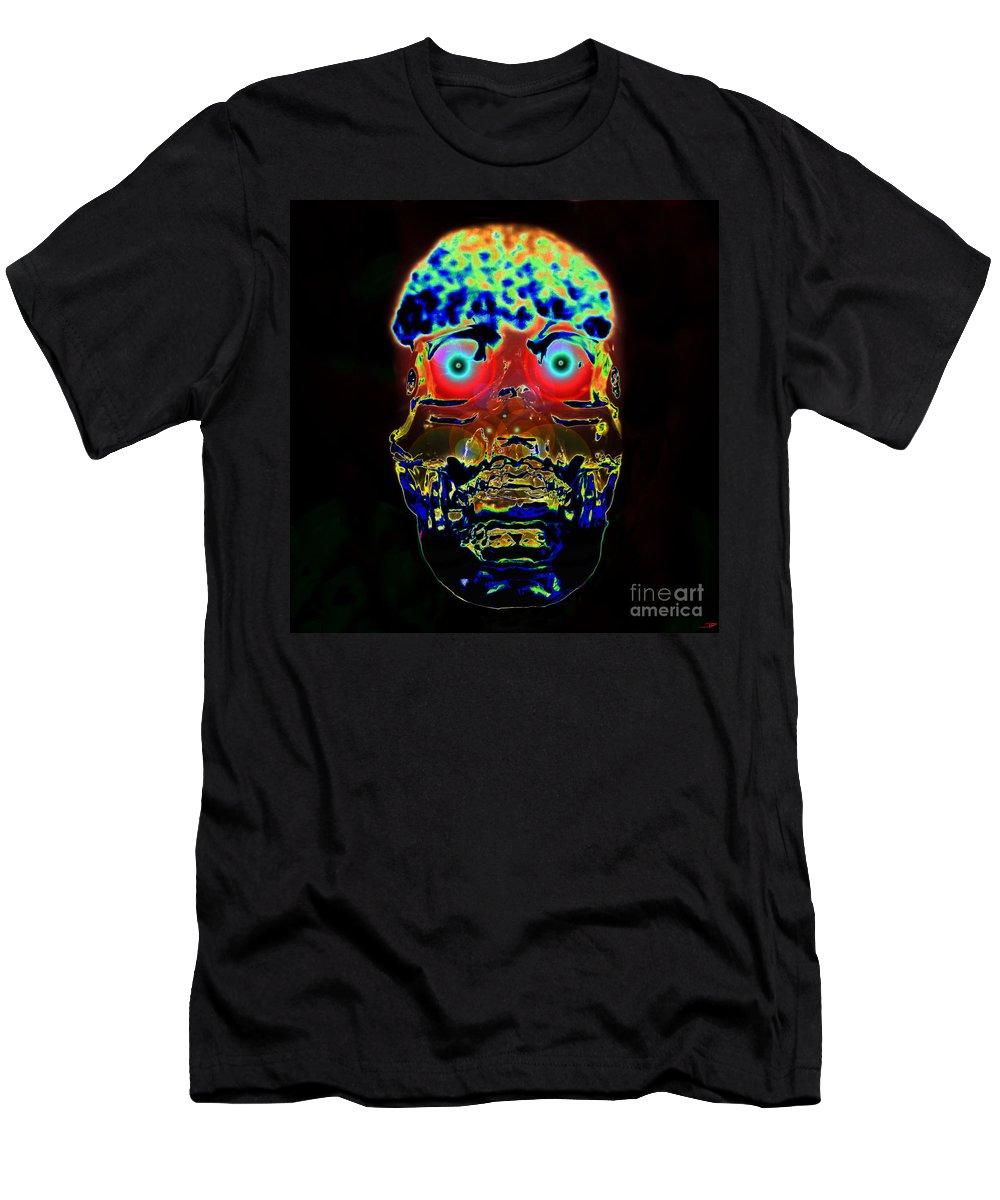 Hybrid Men's T-Shirt (Athletic Fit) featuring the digital art Hybrid by David Lee Thompson