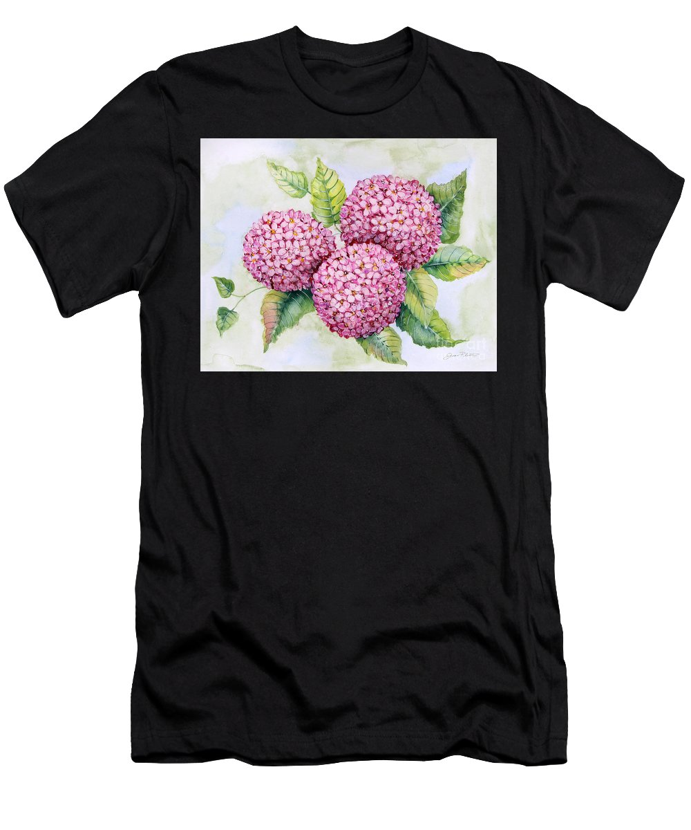 Hyrangea Men's T-Shirt (Athletic Fit) featuring the painting Hydrangeas-jp3880 by Jean Plout