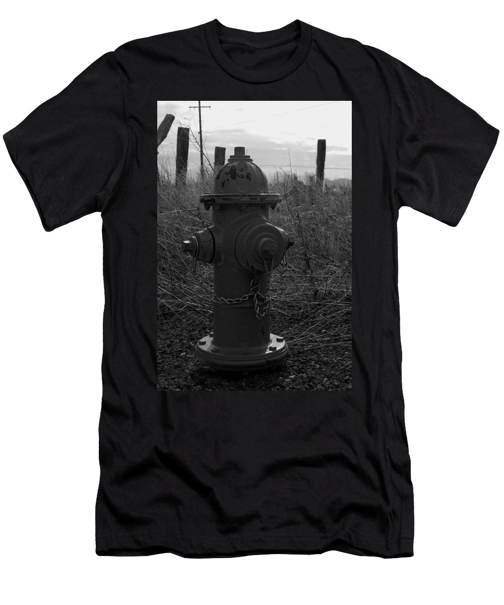 Fire Hydrant Men's T-Shirt (Athletic Fit) featuring the photograph Hydrant by Sara Stevenson