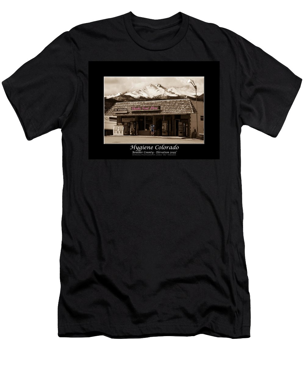 Hygiene Men's T-Shirt (Athletic Fit) featuring the photograph Hygiene Colorado Bw Fine Art Photography Print by James BO Insogna