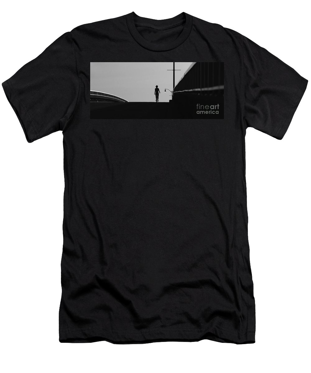 Female Men's T-Shirt (Athletic Fit) featuring the photograph I Am Woman by David Lee Thompson
