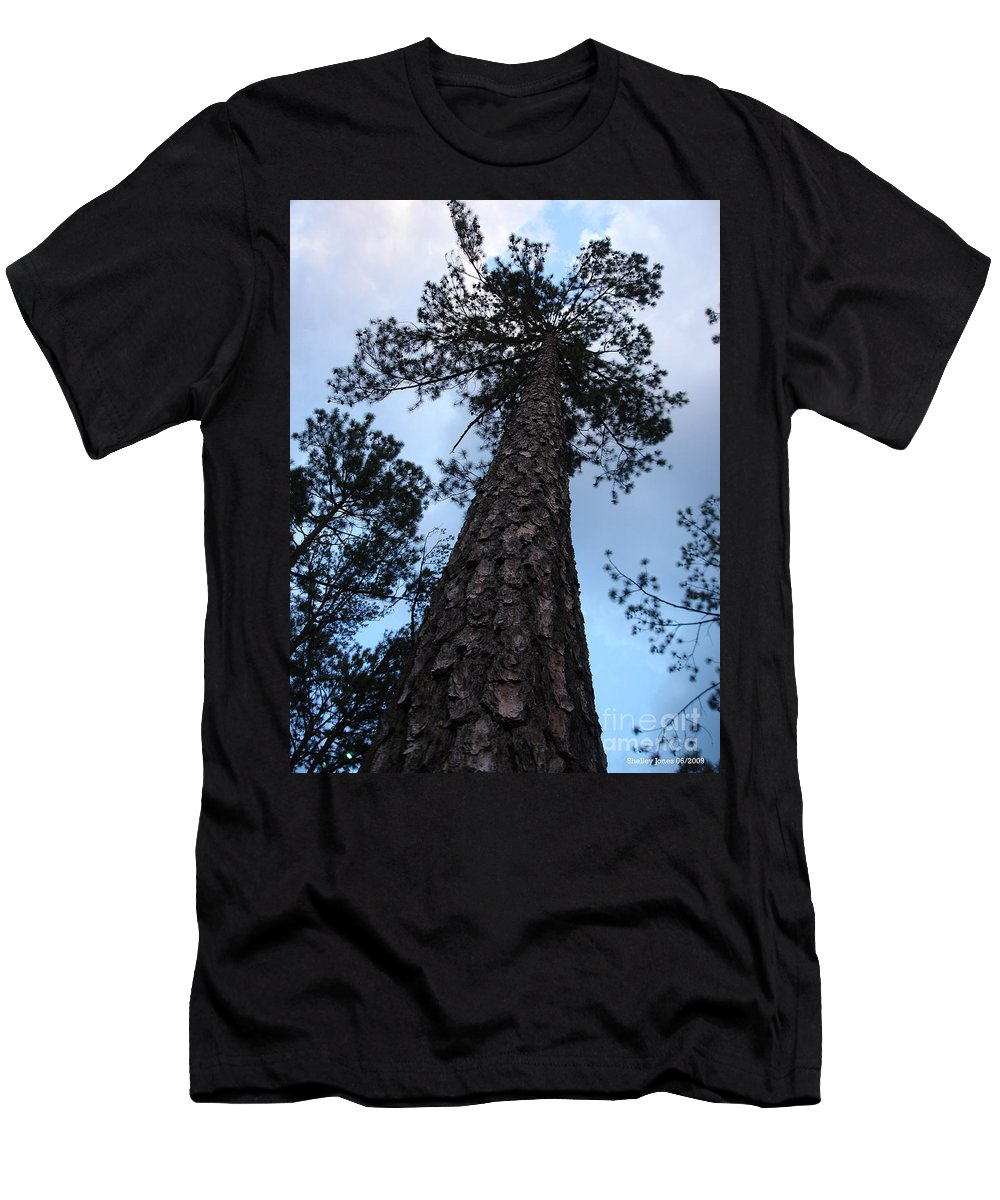 Tree Men's T-Shirt (Athletic Fit) featuring the photograph I Can Touch The Sky.... Can You by Shelley Jones