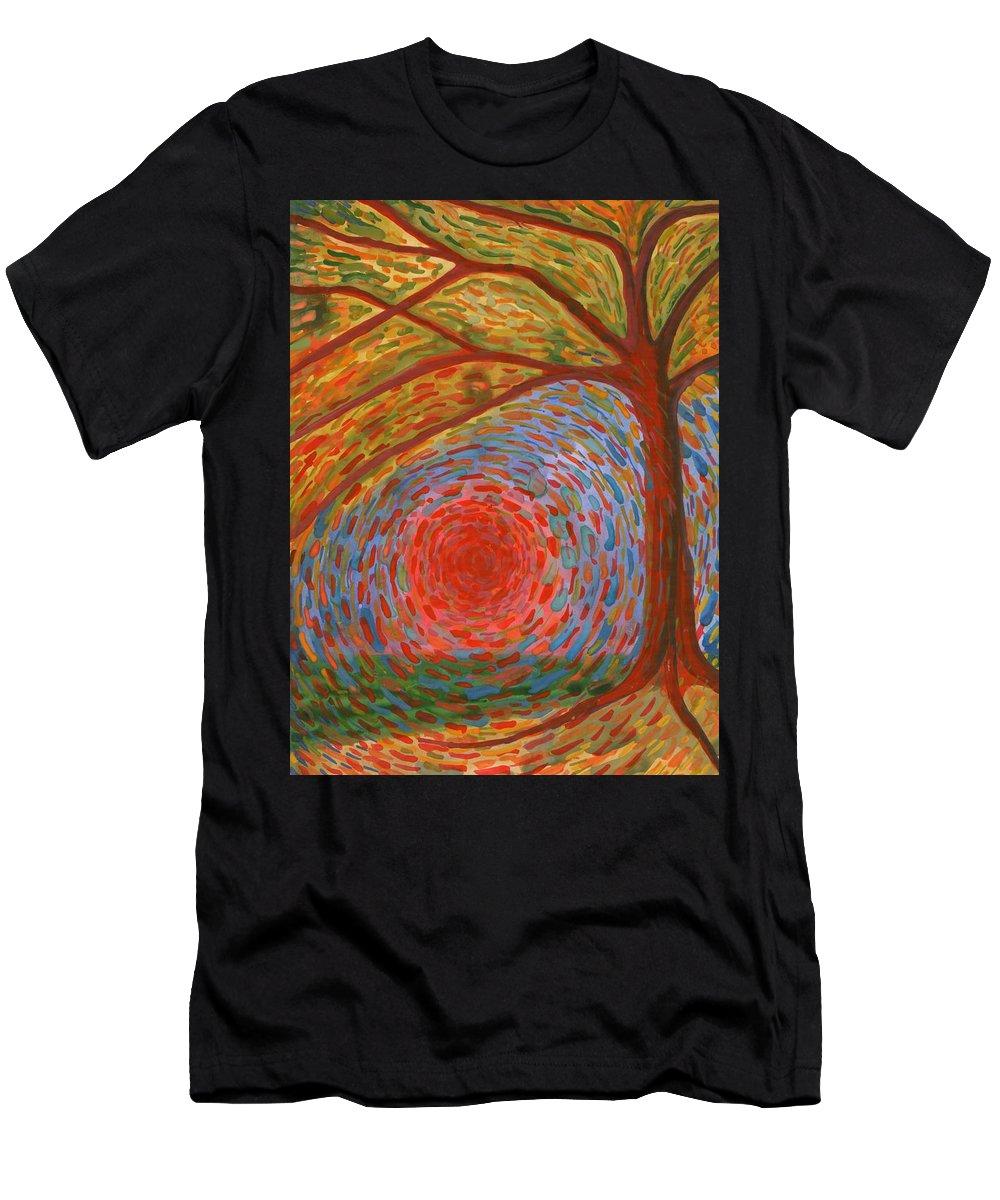 Colour Men's T-Shirt (Athletic Fit) featuring the painting I Die by Wojtek Kowalski