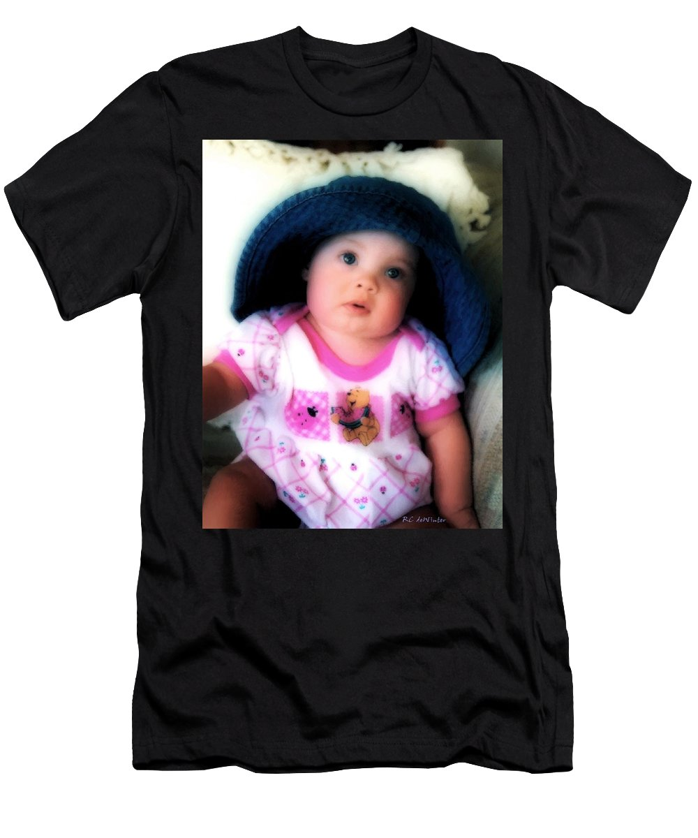 Baby Men's T-Shirt (Athletic Fit) featuring the digital art I Dont Think So by RC DeWinter
