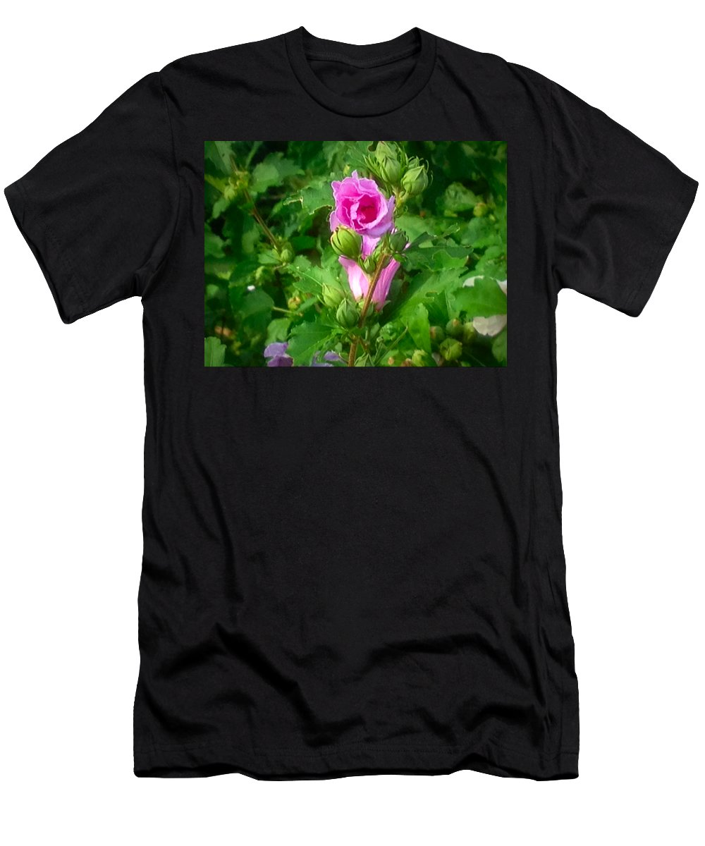 Flower Men's T-Shirt (Athletic Fit) featuring the photograph I Dream Of The Day by Debra Lynch