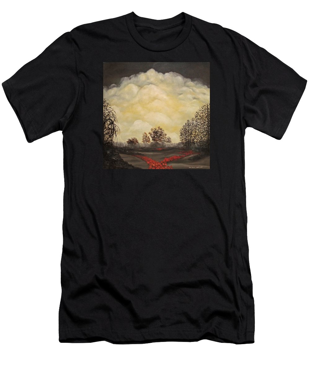 Landscape Men's T-Shirt (Athletic Fit) featuring the painting I Had A Dream by John Stuart Webbstock