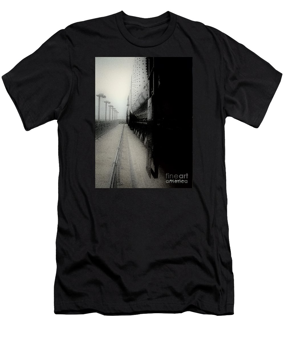 Train Men's T-Shirt (Athletic Fit) featuring the digital art I Hear That Lonesome Whistle Blow by RC deWinter