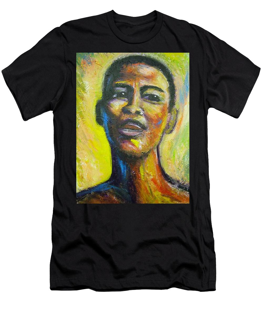 Intensity Men's T-Shirt (Athletic Fit) featuring the painting I by Jan Gilmore