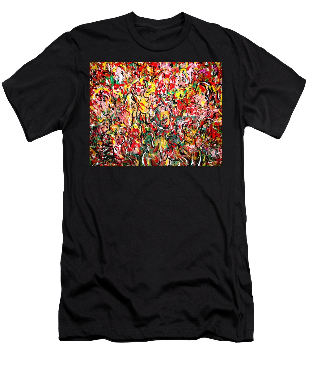 Party Men's T-Shirt (Athletic Fit) featuring the painting I Love Natalie's Party by Natalie Holland