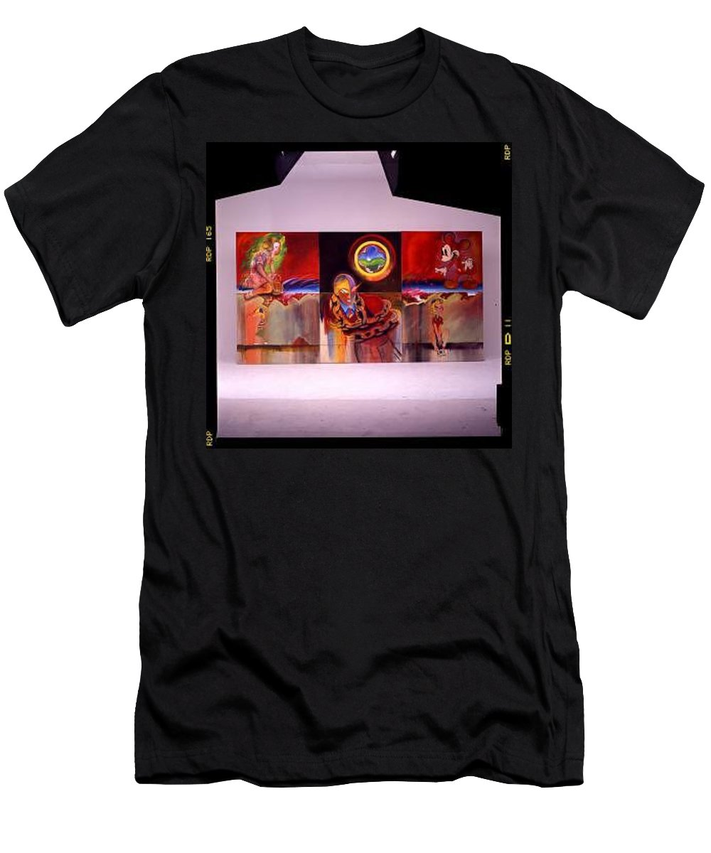 Spiderman T-Shirt featuring the painting I Saw The Figure Five In Gold by Charles Stuart