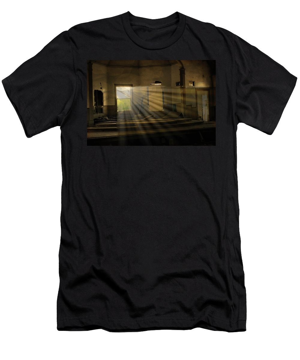 Kingsville Texas Men's T-Shirt (Athletic Fit) featuring the photograph I Saw The Light by Marshall Barth
