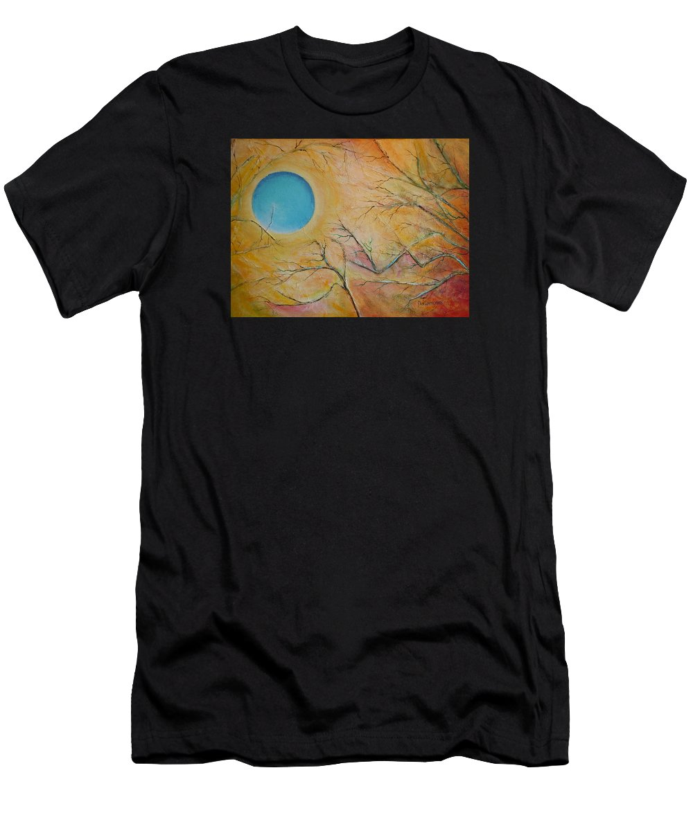 Moon Men's T-Shirt (Athletic Fit) featuring the painting I Saw You Standing Alone by Dan Whittemore