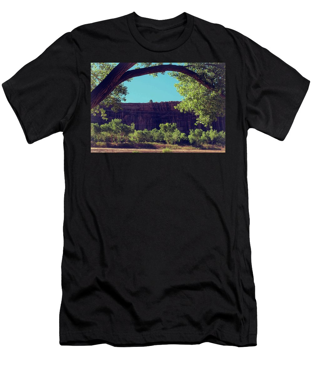 Canyon Men's T-Shirt (Athletic Fit) featuring the photograph I Want To Be With You by Lucinda Walter