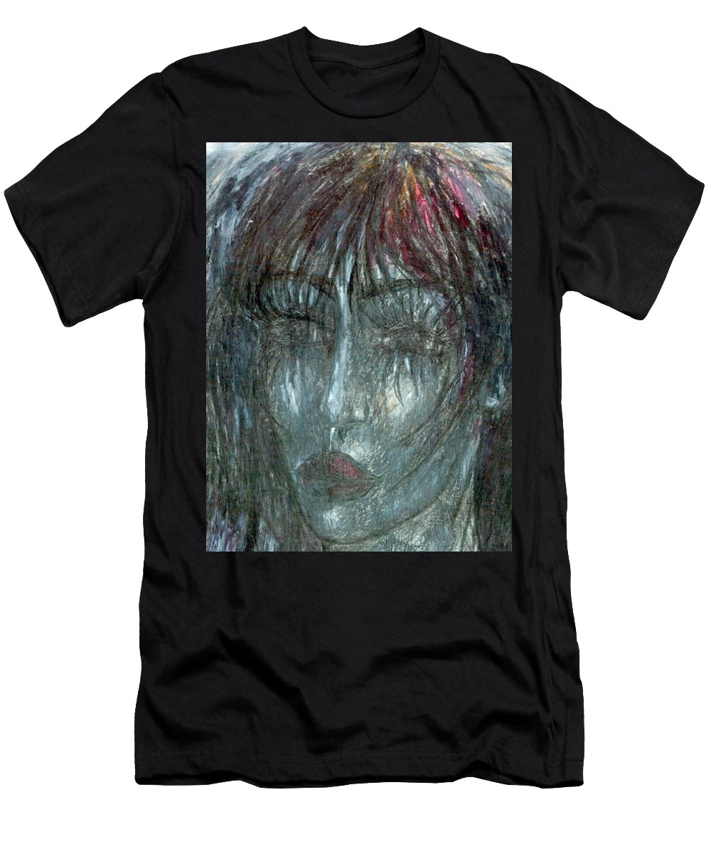 Psychedelic Men's T-Shirt (Athletic Fit) featuring the painting I Wept Out Eyes by Wojtek Kowalski