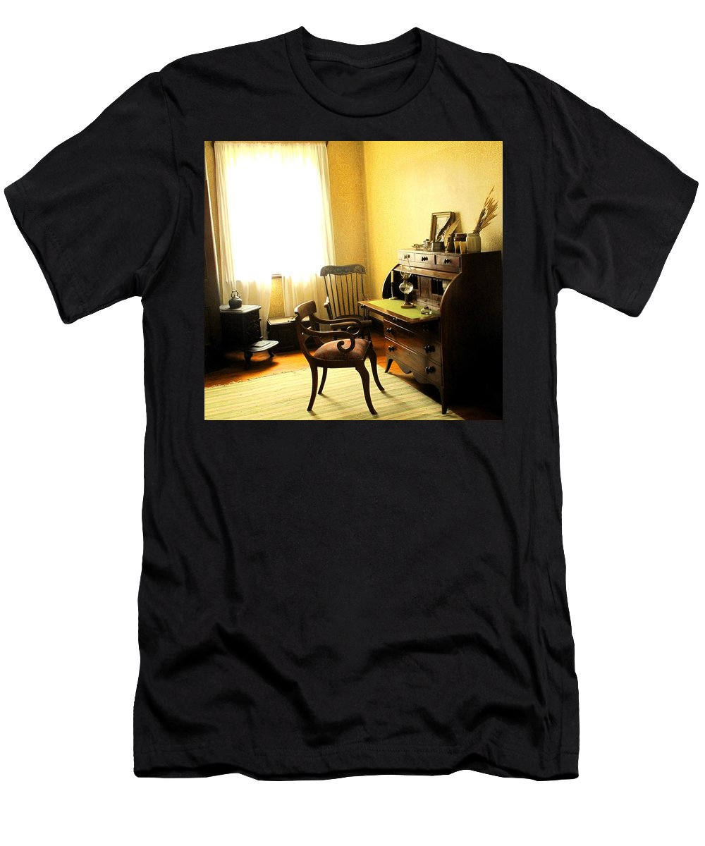 Antique Men's T-Shirt (Athletic Fit) featuring the photograph I Will Be Right Back by Ian MacDonald