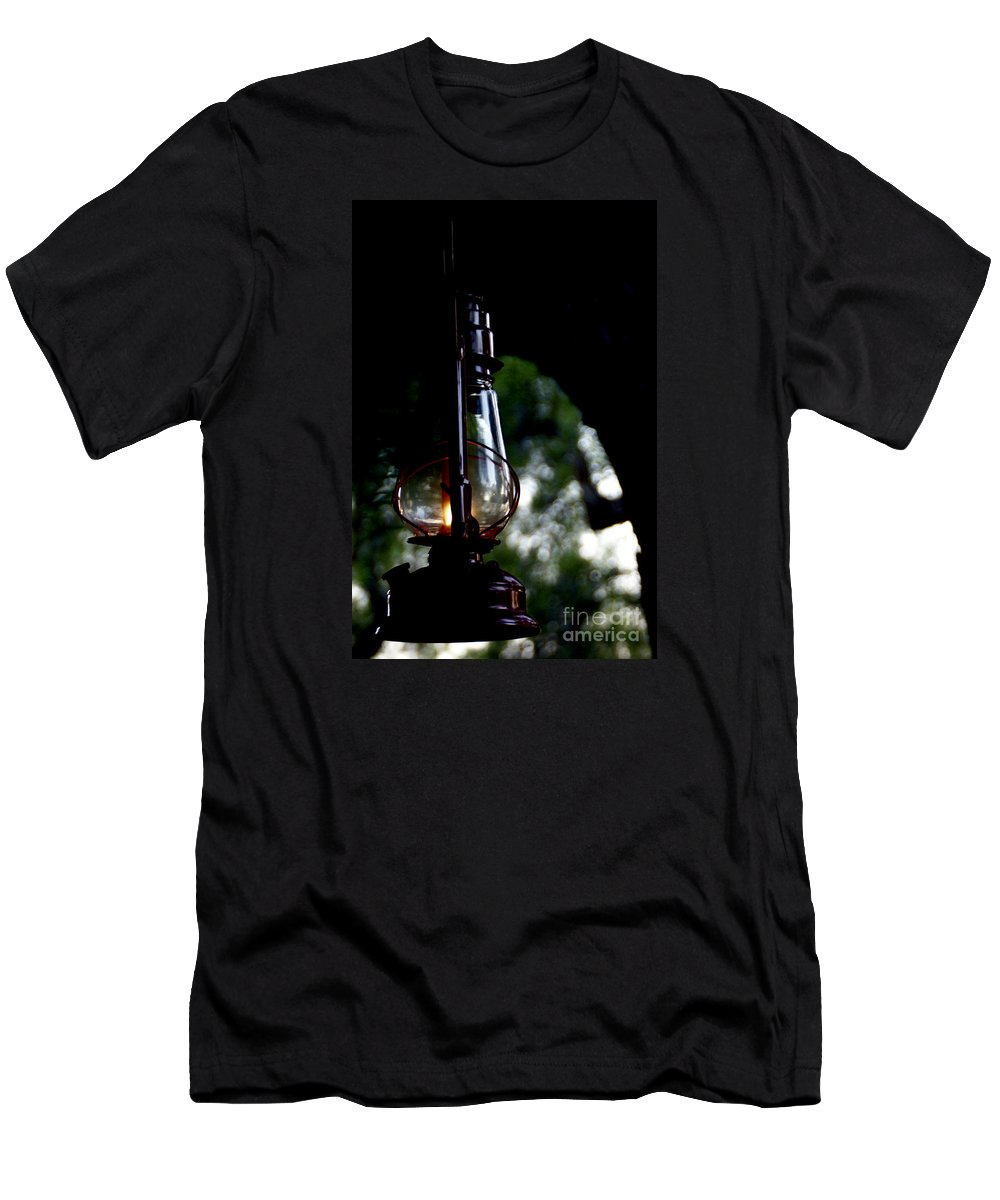 Lantern Men's T-Shirt (Athletic Fit) featuring the photograph I Will Guide You by Linda Shafer