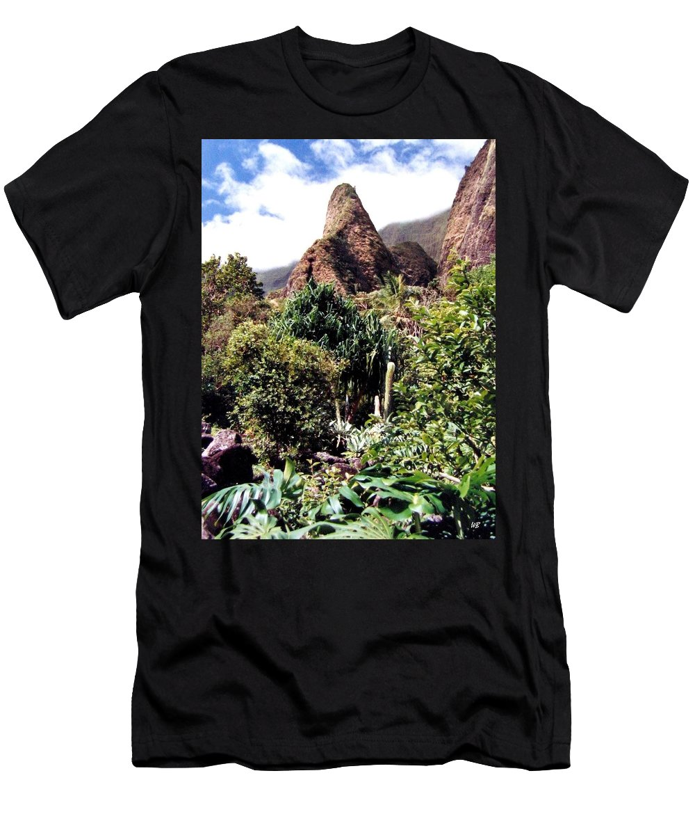 1986 Men's T-Shirt (Athletic Fit) featuring the photograph Iao Needle by Will Borden