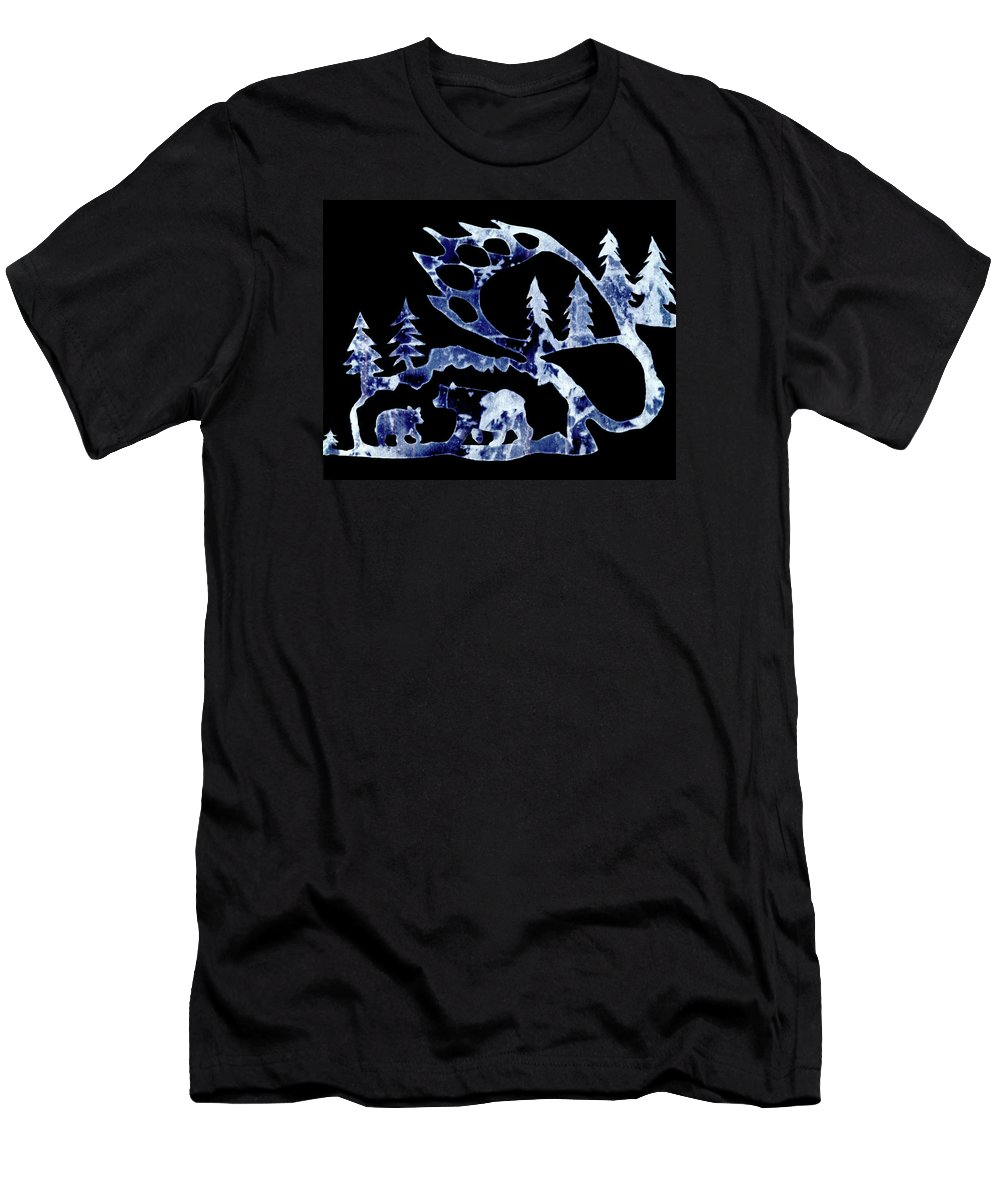 Bear Men's T-Shirt (Athletic Fit) featuring the photograph Ice Bears 1 by Larry Campbell