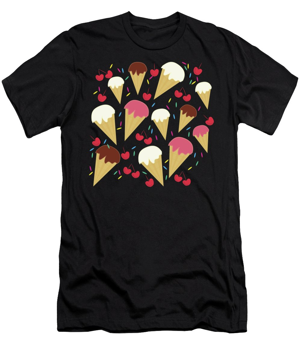 Ice Cream Men's T-Shirt (Athletic Fit) featuring the photograph Ice Cream Cones by UMe images