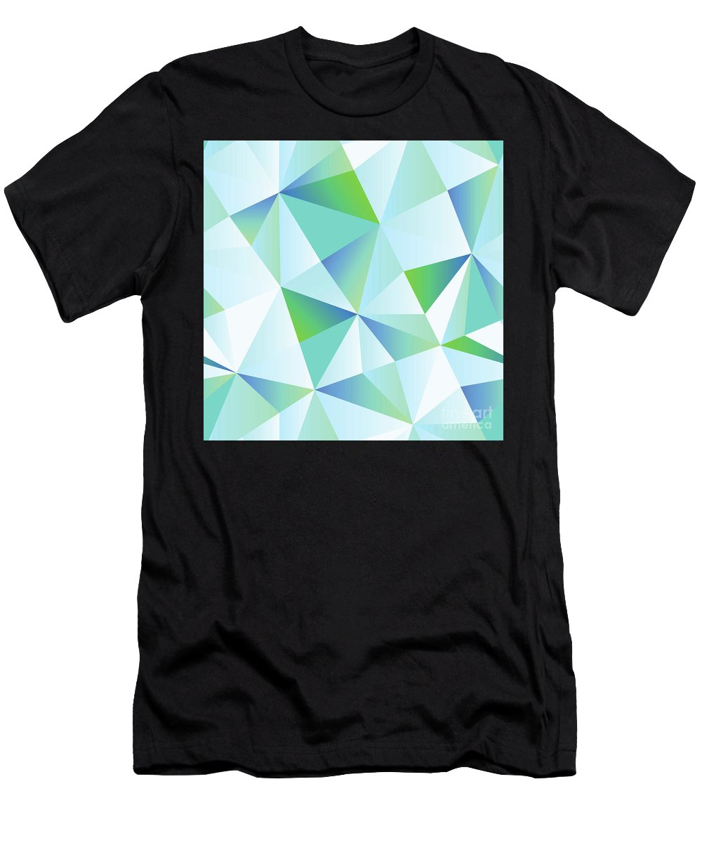 Ice Shards Men's T-Shirt (Athletic Fit) featuring the digital art Ice Shards Abstract Geometric Angles Pattern by Tina Lavoie