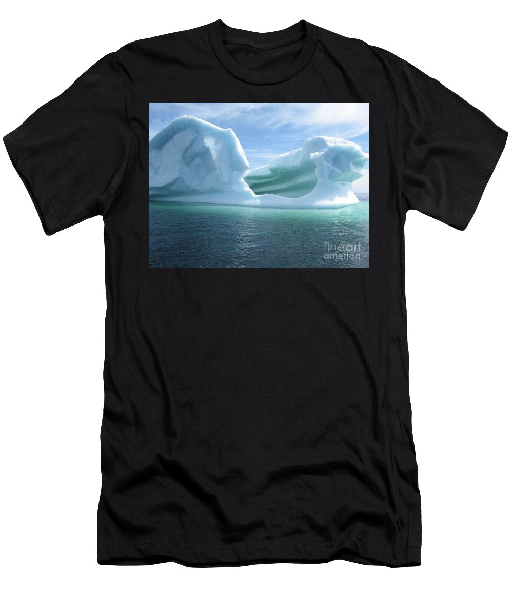 Photograph Iceberg Ocean Summer Newfoundland Men's T-Shirt (Athletic Fit) featuring the photograph Iceberg by Seon-Jeong Kim