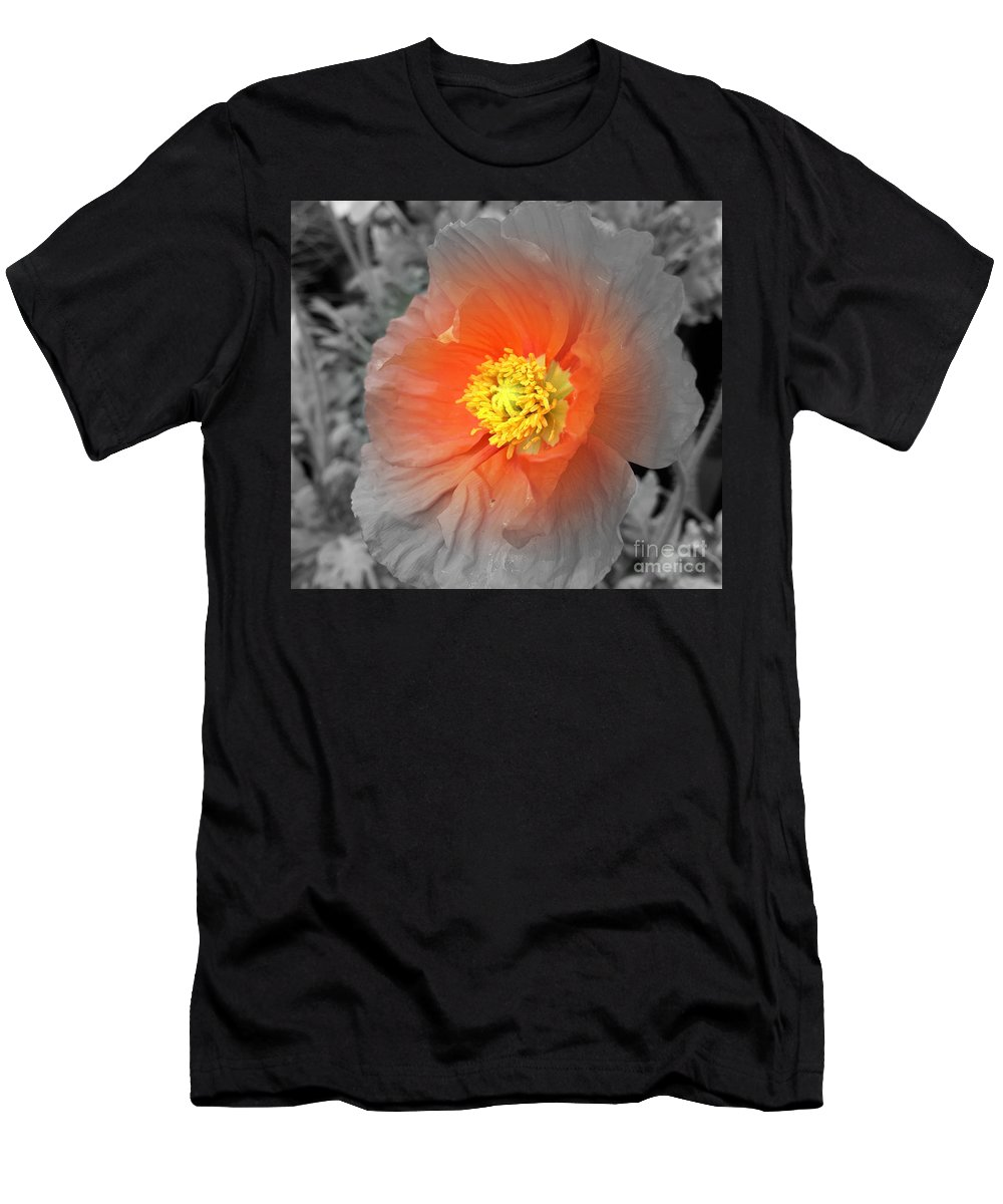 Flower Men's T-Shirt (Athletic Fit) featuring the photograph Icelandic Poppy by Pruddygurl Exclusives