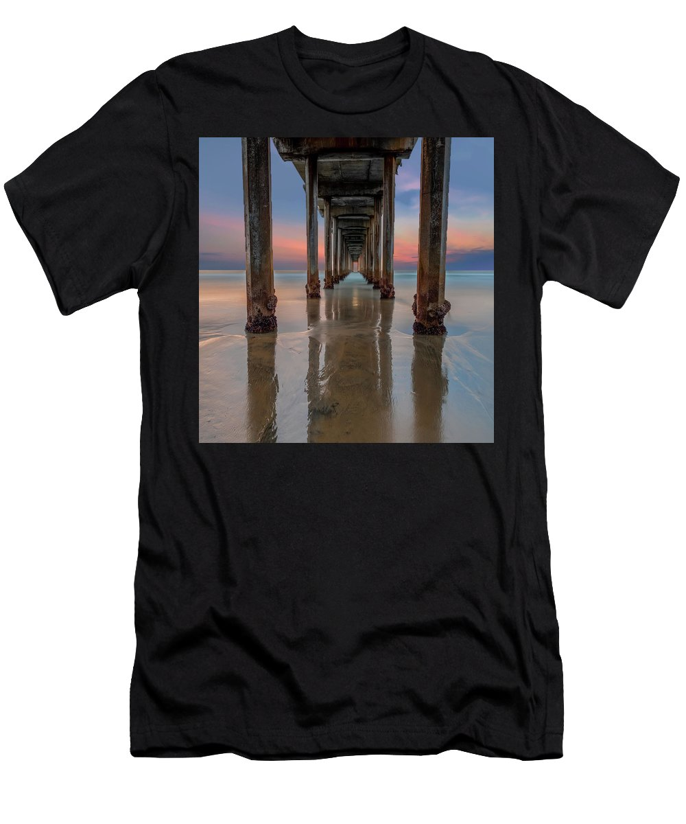 La Jolla T-Shirt featuring the photograph Iconic Scripps Pier by Larry Marshall