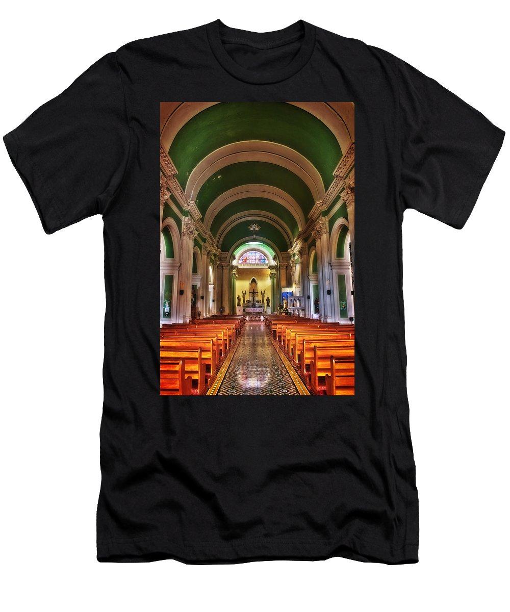 Church Men's T-Shirt (Athletic Fit) featuring the photograph Iglesia De La Merced by Graesen Arnoff