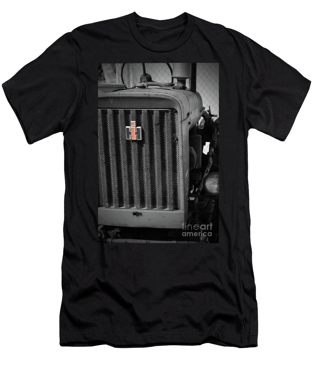 International Harvestor Men's T-Shirt (Athletic Fit) featuring the photograph Ih Tractor by Jost Houk