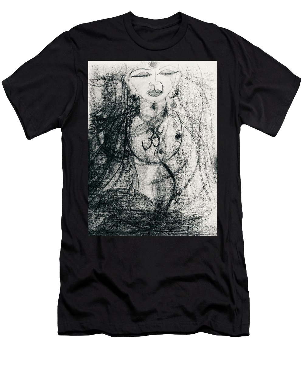 Saraswathi Men's T-Shirt (Athletic Fit) featuring the pastel Ila by Swaroop Kanchi