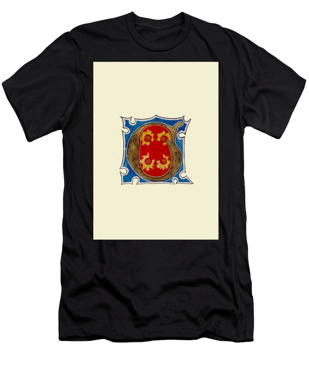 Men's T-Shirt (Athletic Fit) featuring the painting Illumination G by Valerie Etienne