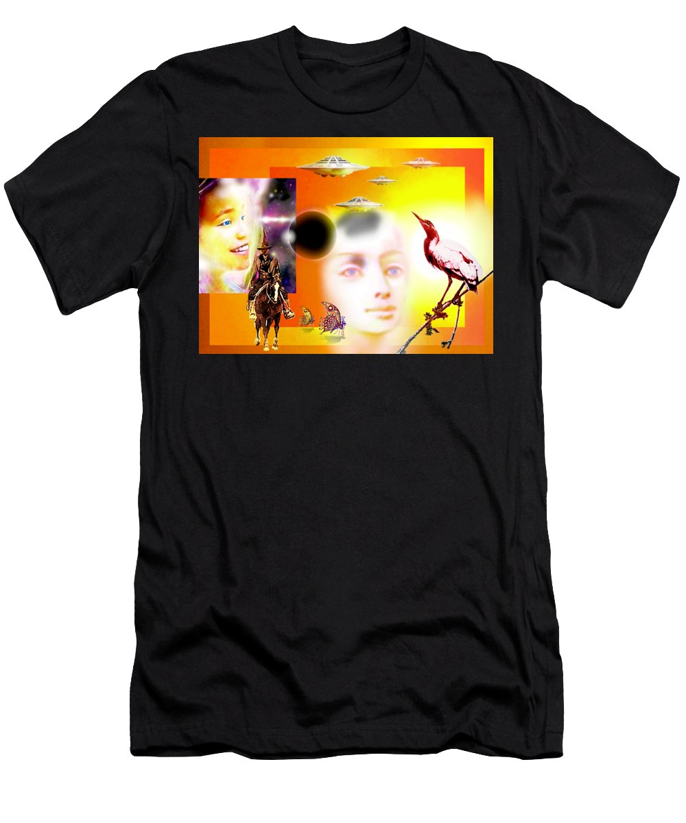 Illusion T-Shirt featuring the painting Illusion Of Reality by Hartmut Jager