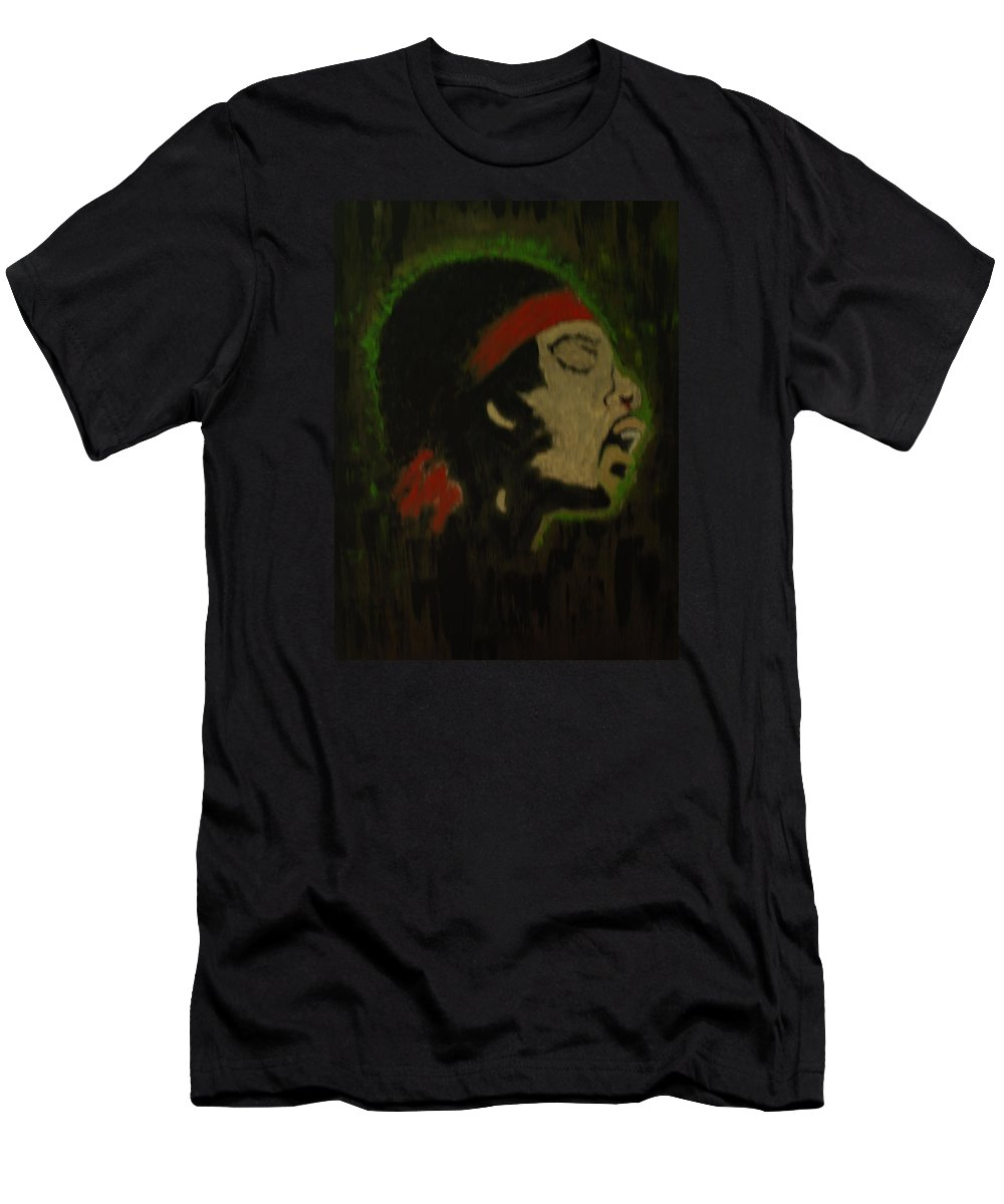 Abstract Portrait Men's T-Shirt (Athletic Fit) featuring the painting Illusions by Crina Iancau