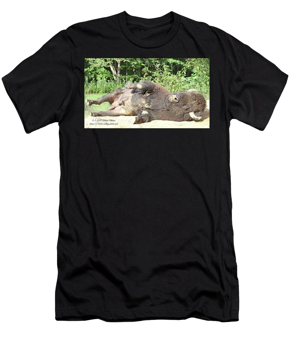 Land Between The Lakes Men's T-Shirt (Athletic Fit) featuring the photograph Give Me A Minute, I Know I Can Rollover by Bobbie Moller