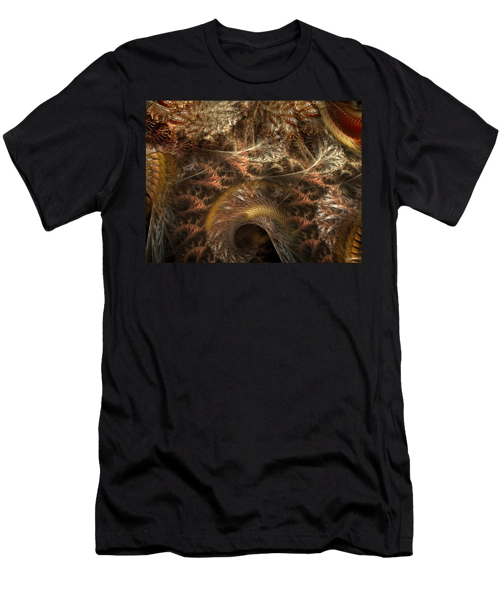 Abstract Men's T-Shirt (Athletic Fit) featuring the digital art Image Of The Organism by Casey Kotas