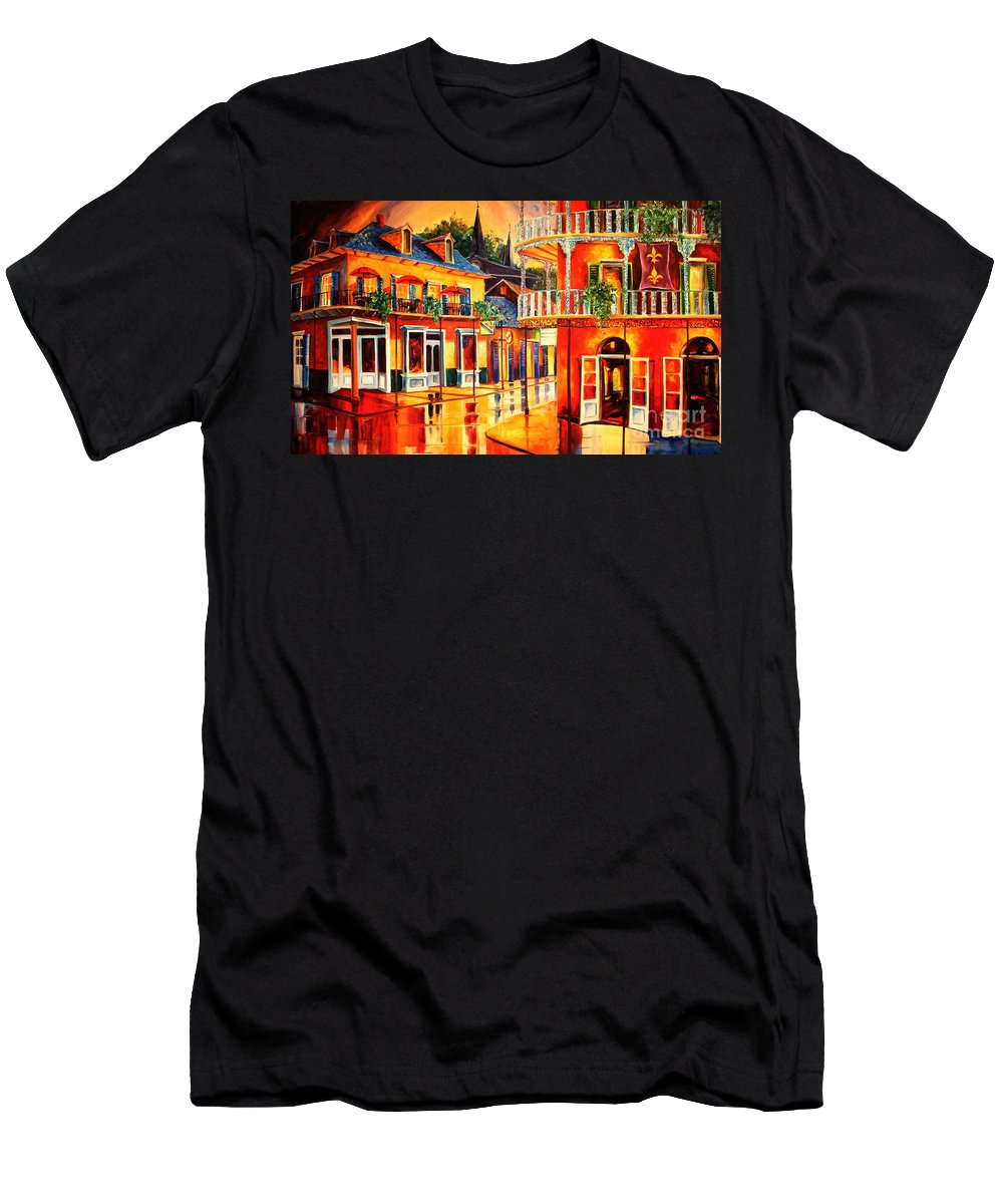 New Orleans Men's T-Shirt (Athletic Fit) featuring the painting Images Of The French Quarter by Diane Millsap