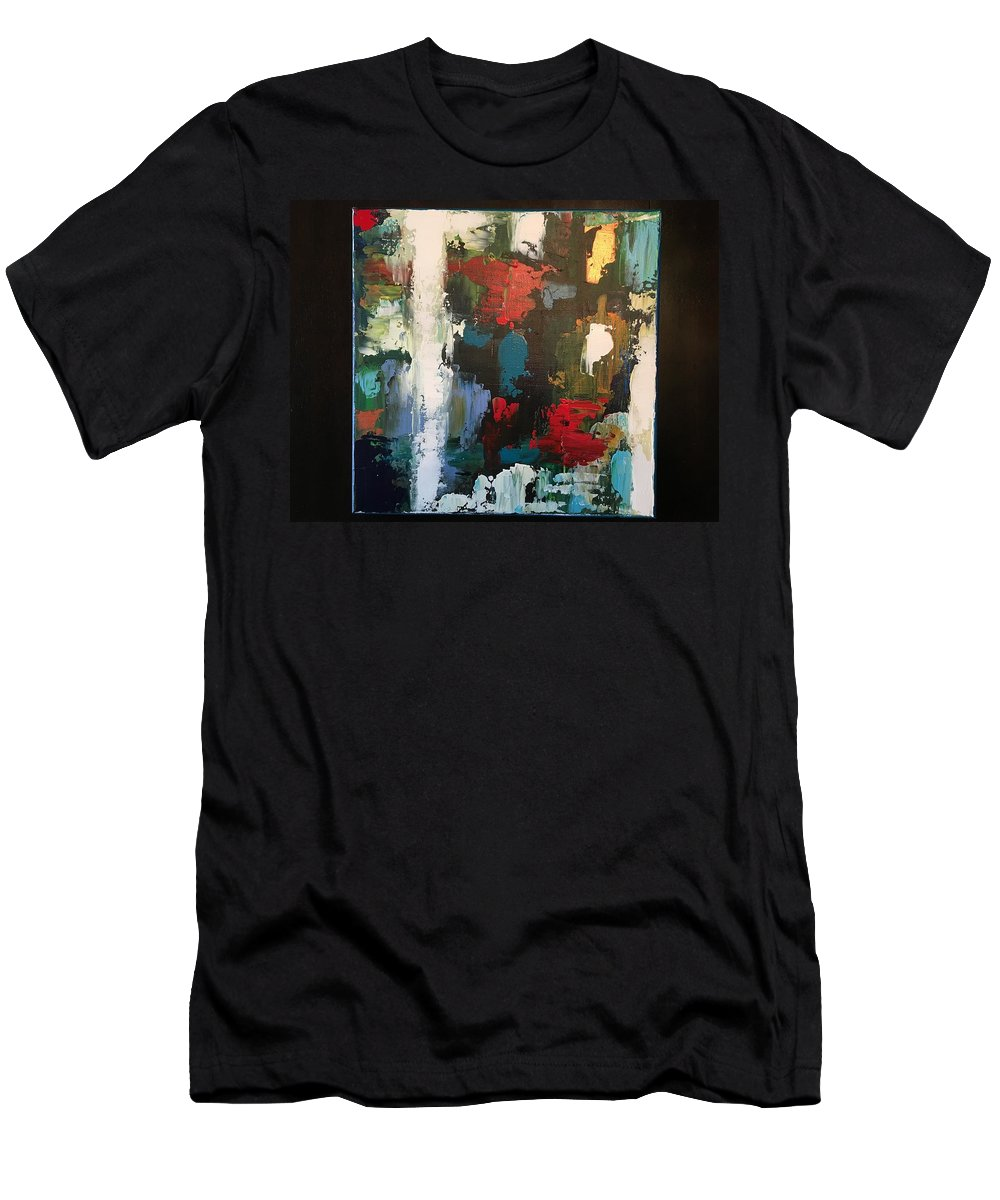 Fine Art Abstract Men's T-Shirt (Athletic Fit) featuring the painting Imagination by Michael Walters