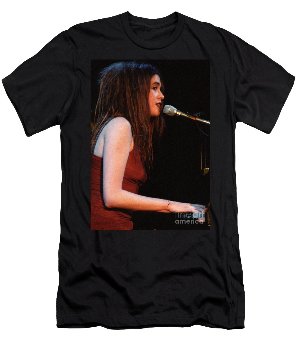 Imogen Heap Nyc New York Nightclub Concert Live Photography Bloomrosen Men's T-Shirt (Athletic Fit) featuring the photograph Imogen Heap by J Bloomrosen