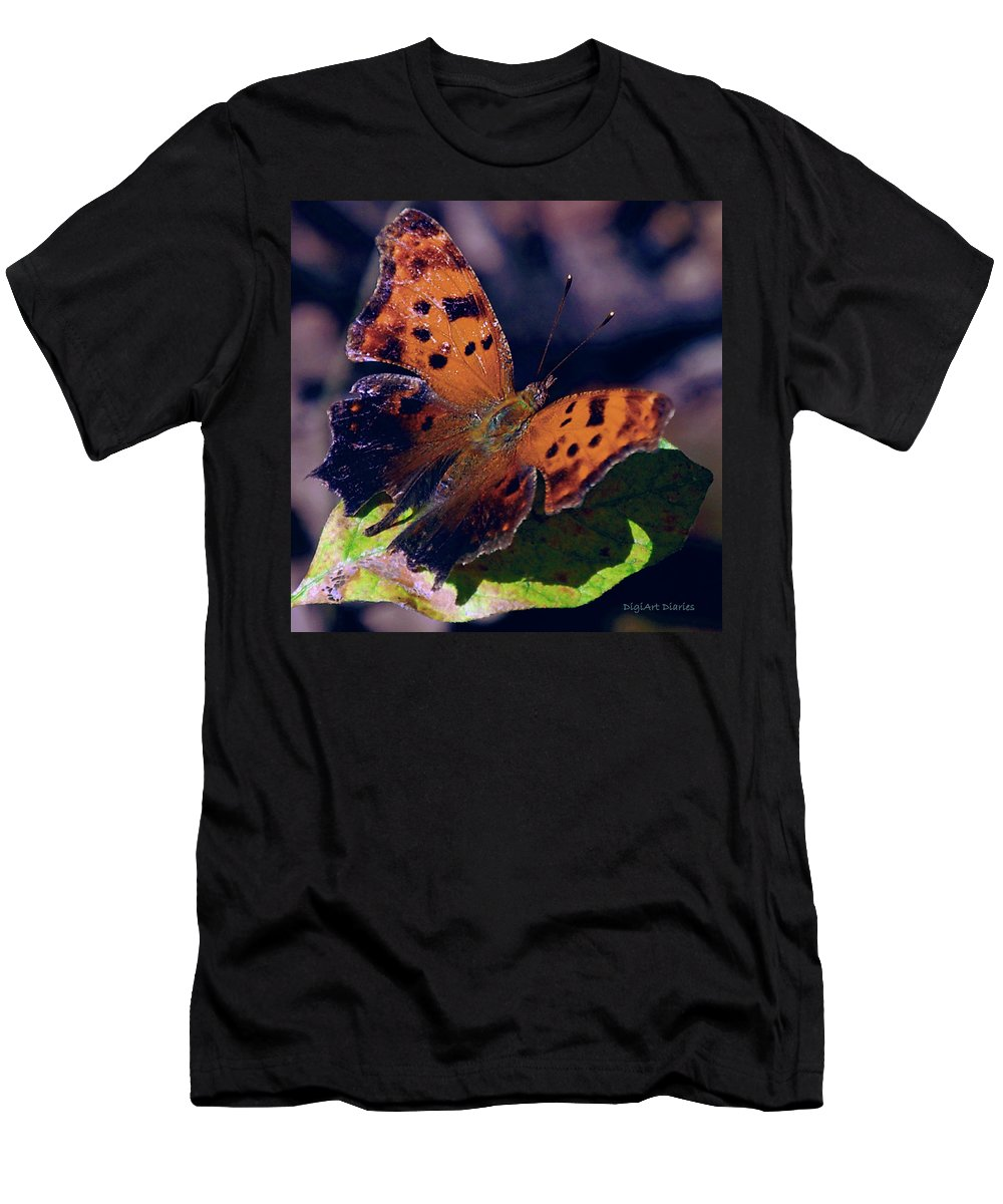 Butterfly Men's T-Shirt (Athletic Fit) featuring the digital art Imperfect Satyr Comma by DigiArt Diaries by Vicky B Fuller