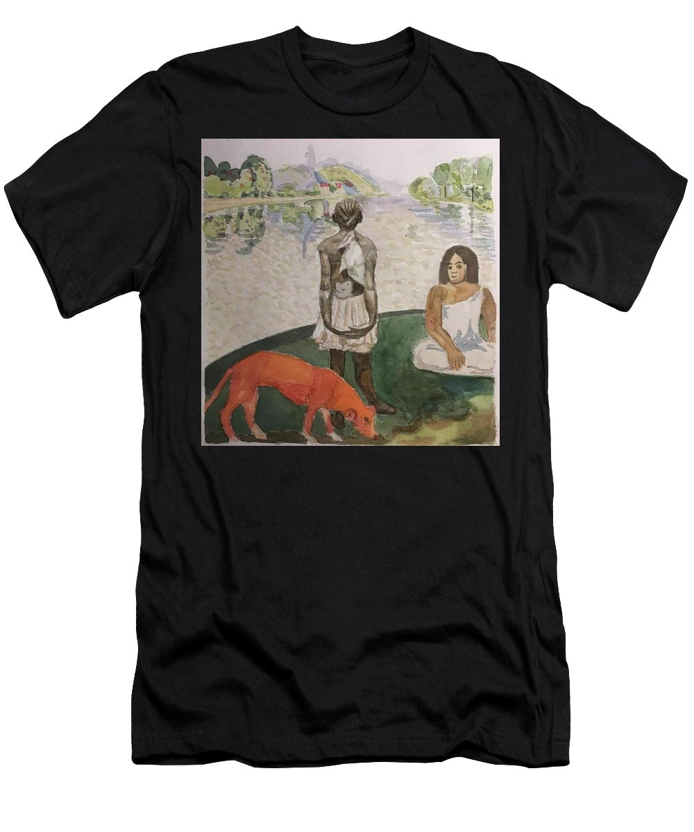 Impressionism Men's T-Shirt (Athletic Fit) featuring the painting Impressed by Yonger Xie