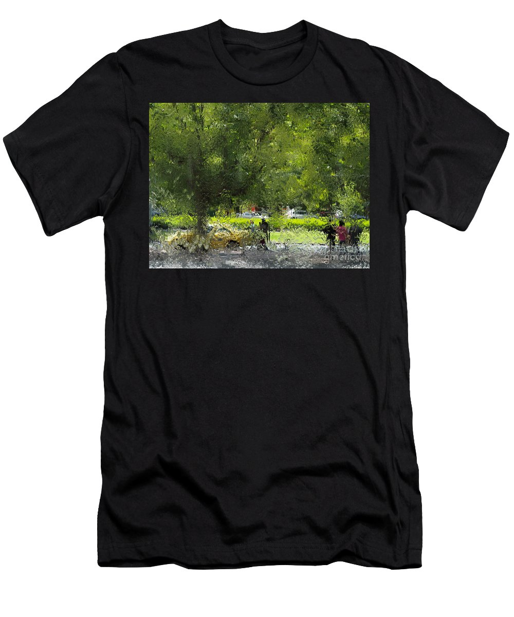 Impressionist Men's T-Shirt (Athletic Fit) featuring the photograph Impressionist Series #1 by Ronald Rockman