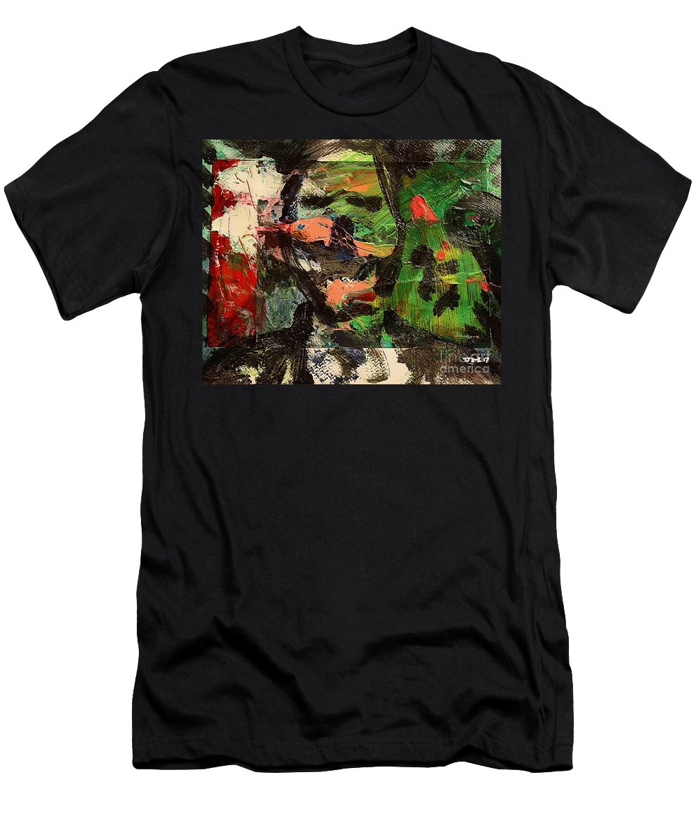 Art Men's T-Shirt (Athletic Fit) featuring the painting Impro1 by Uwe Hoche