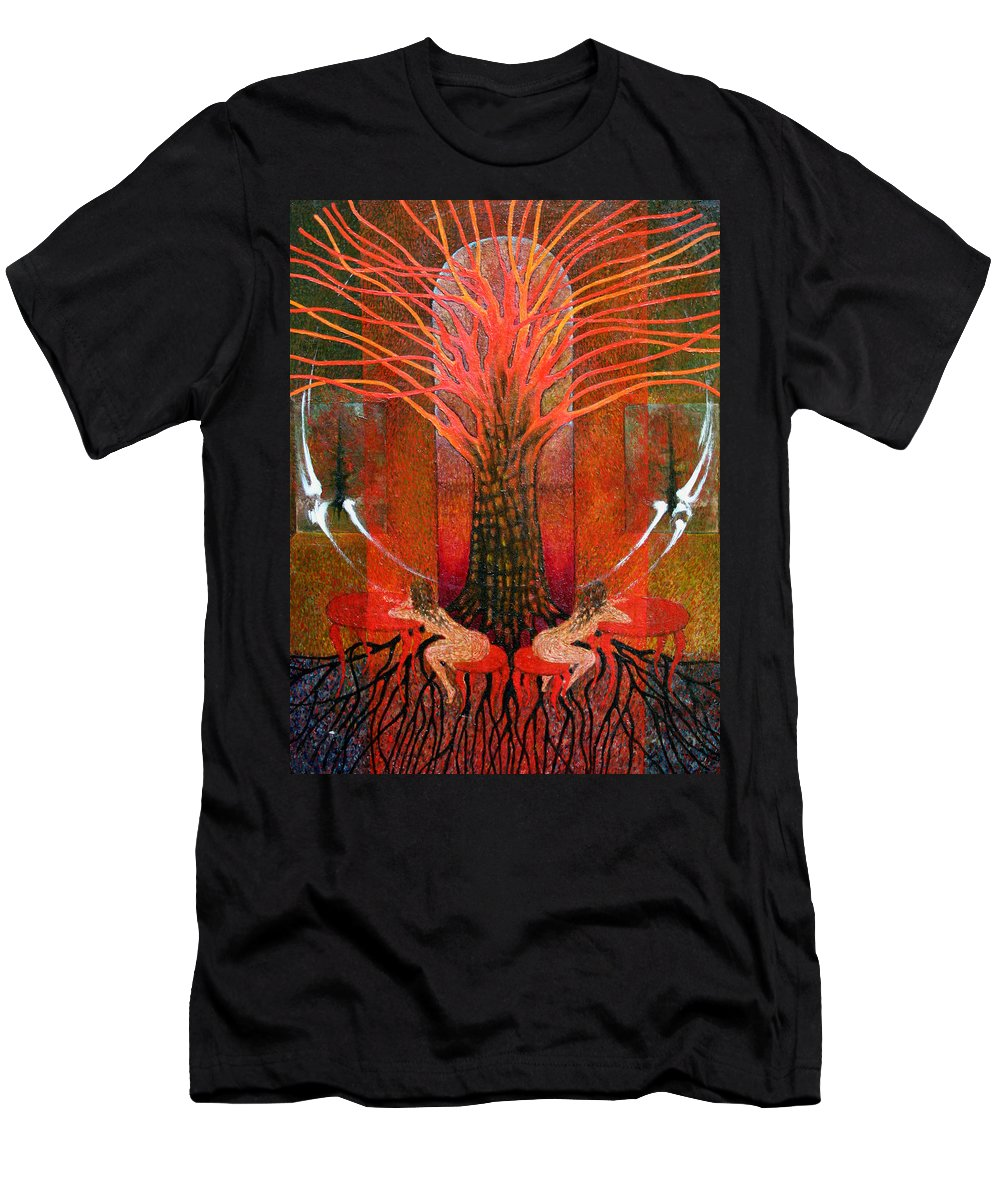 Imagination Men's T-Shirt (Athletic Fit) featuring the painting In Garden by Wojtek Kowalski