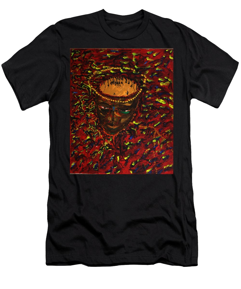 Jesus Men's T-Shirt (Athletic Fit) featuring the painting In Gethsemane by Gloria Ssali
