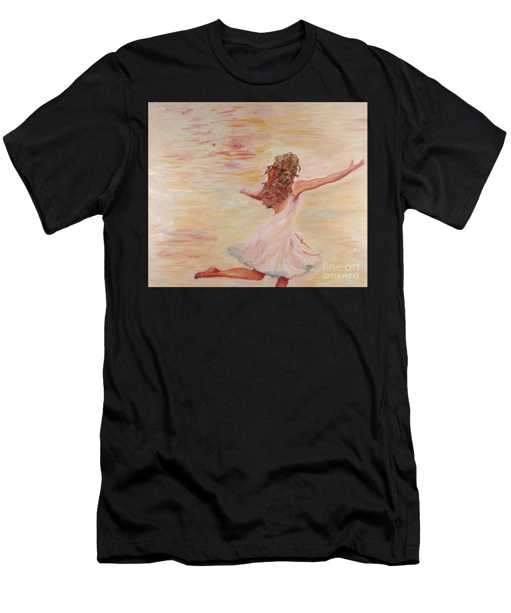 Dance Men's T-Shirt (Athletic Fit) featuring the painting In Him We Live by Nadine Rippelmeyer