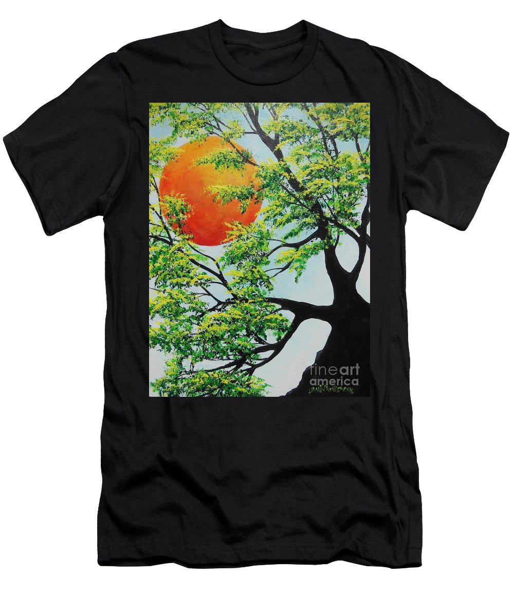 Harvest Moon Men's T-Shirt (Athletic Fit) featuring the painting In His Time by Dan Whittemore