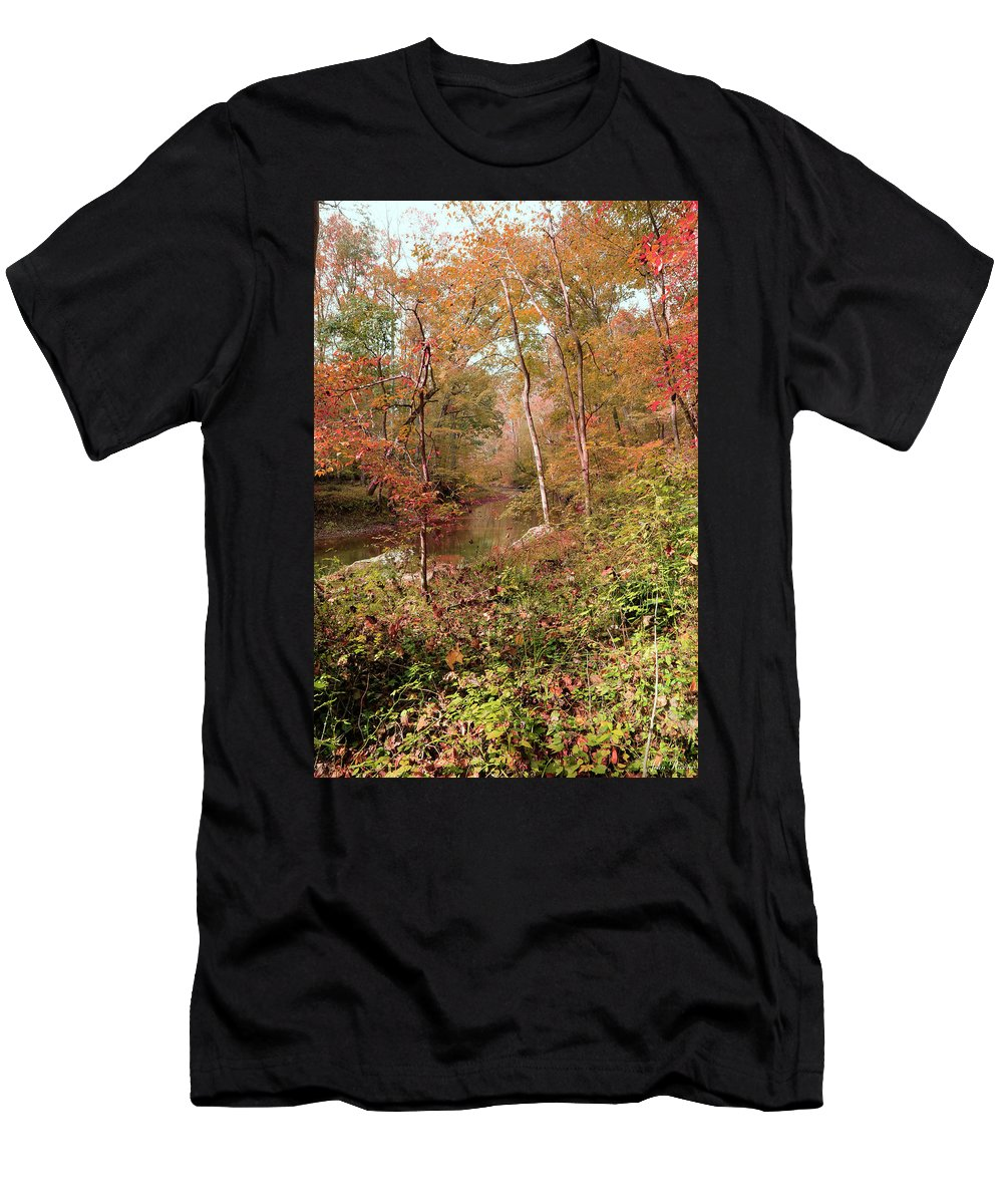Autumn Men's T-Shirt (Athletic Fit) featuring the photograph In Love With Autumn by John Rivera