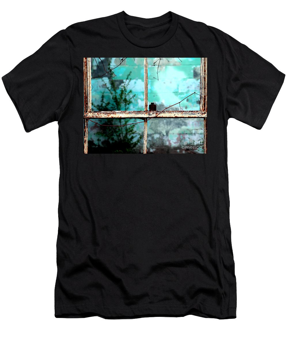 Windows Men's T-Shirt (Athletic Fit) featuring the photograph In Or Out by Amanda Barcon
