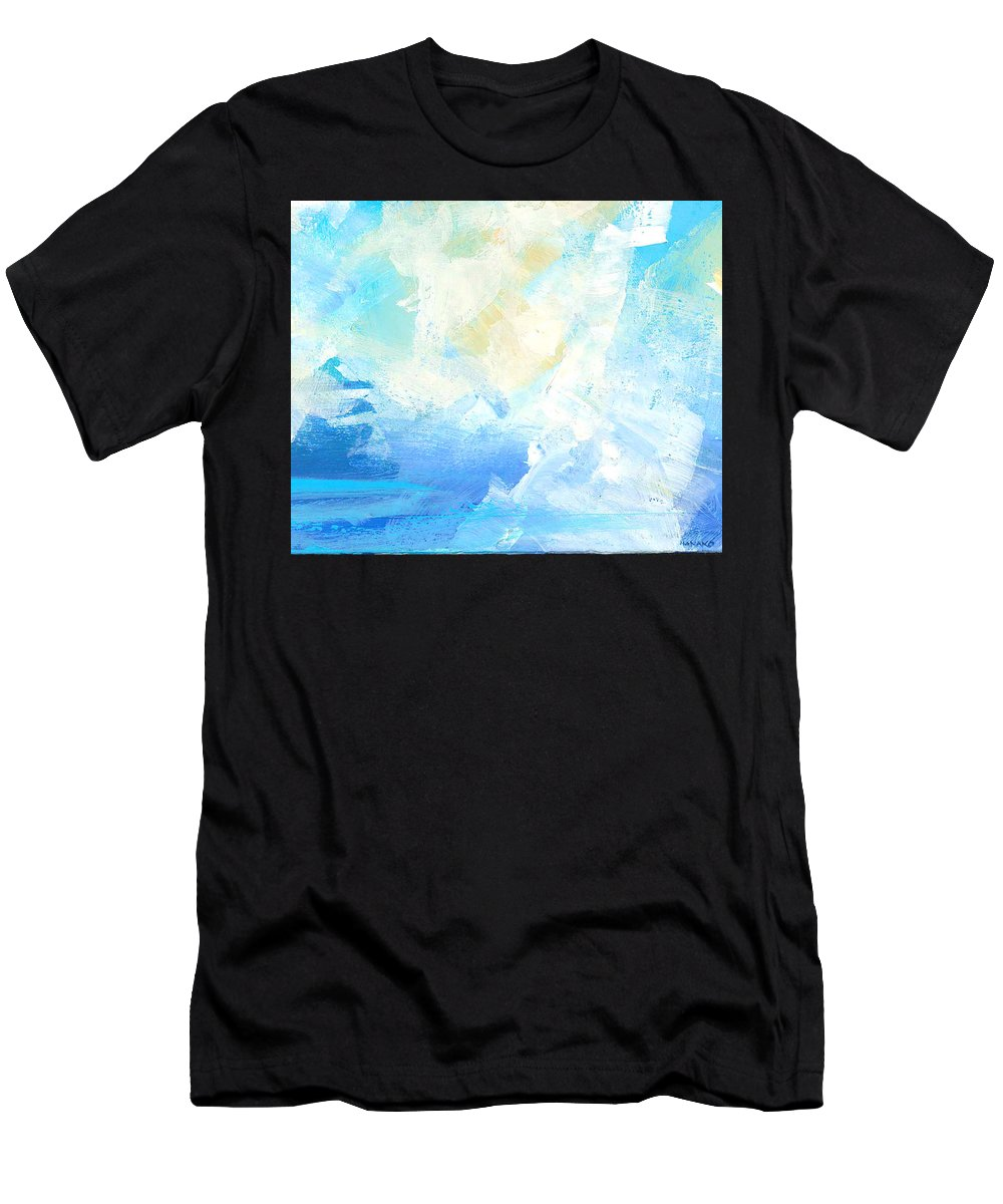 Abstract Men's T-Shirt (Athletic Fit) featuring the painting In The Air by Hanako Hawaii