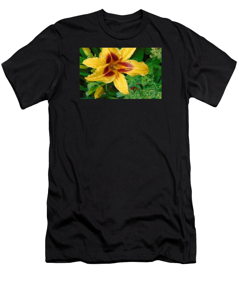 Flower Men's T-Shirt (Athletic Fit) featuring the photograph In The Garden by Melanie Gervais
